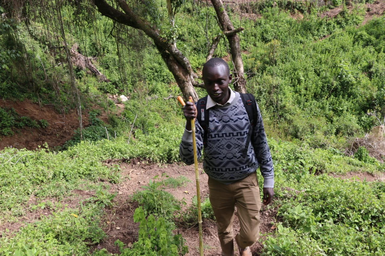 Kipchumba navigating through the Embobut Forest